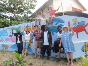 Ocean mural in Mozambique